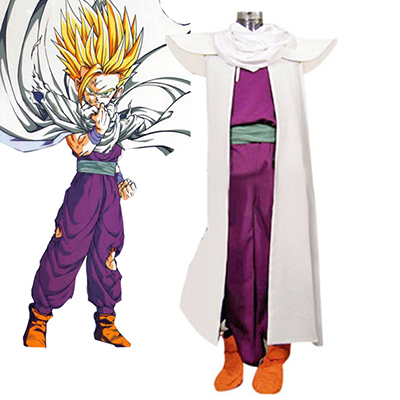 Dragon Ball Super Saiyan Fighting Enhetlig Cosplay Kostym Karneval