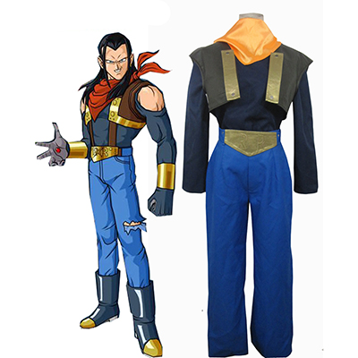 Dragon Ball Android 17 Cosplay Halloween Kostym Karneval
