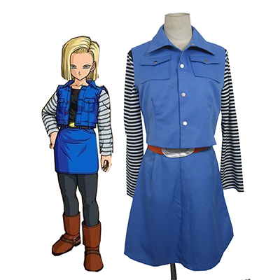 Dragon Ball Android 18 Cosplay Halloween Kostym Karneval