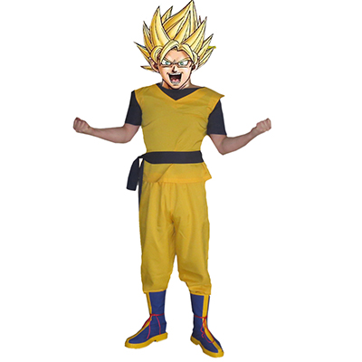 Dragon Ball Super Saiyan Cosplay Halloween Kostym Karneval