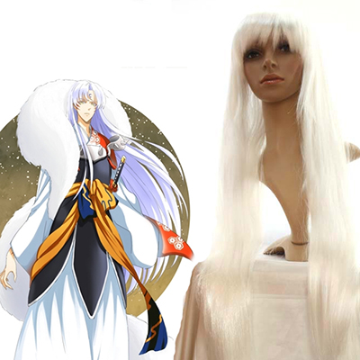 Inuyasha Sesshoumaru Anime Faschings Cosplay Perücken