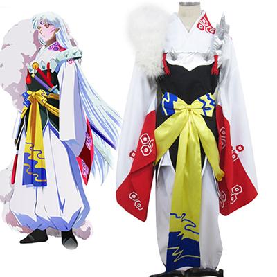 Inuyasha Iron Broken Tooth Kimono Cosplay Kostyme Karneval