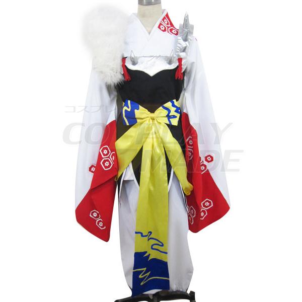 Inuyasha Iron Broken Tooth Kimono Cosplay Kostume Fastelavn