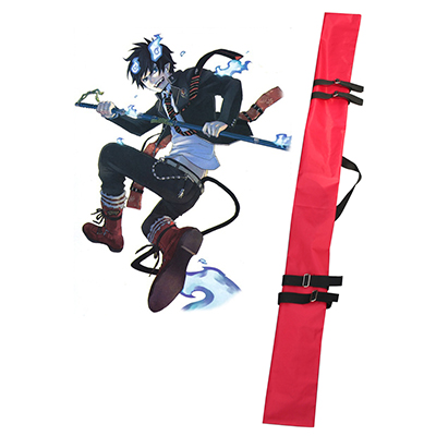 Blue Exorcist Rin Okumura Cosplay Red Knife Borsa Puntelli Carnevale