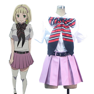 Blue Exorcist Shiemi Moriyama Orthodox College Summer Uniforms Cosplay Kostume Fastelavn