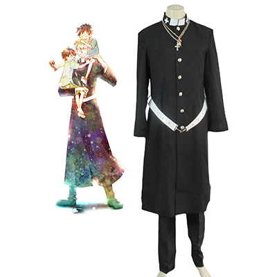 Blue Exorcist Personal Data Priest Cosplay Kostume Fastelavn
