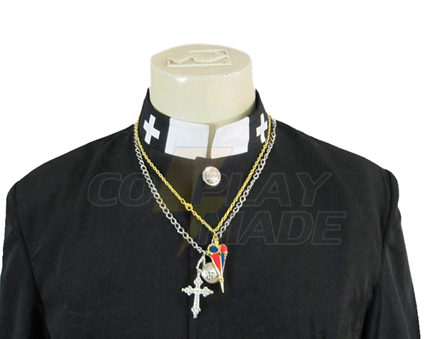 Blue Exorcist Personal Data Priest Cosplay Costume