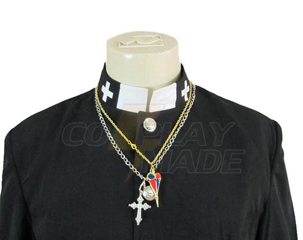 Blue Exorcist Personal Data Priest Cosplay asut Naamiaisasut