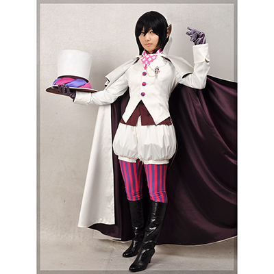 Blue Exorcist Mephisto Pheles Blanc Uniformes Vêtements Cosplay Costume Carnaval