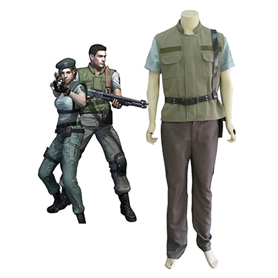 Resident Evil 1 Gioco S.T.A.R.S. Chris Redfield Cosplay Costumi Carnevale