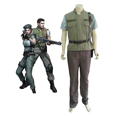 Resident Evil 1 Játék S.T.A.R.S. Chris Redfield Cosplay Jelmez Karnevál