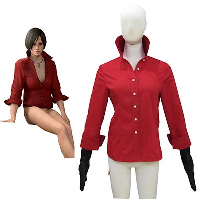 Resident Evil 6 Game Ada Wong Red Cosplay Kostume Fastelavn
