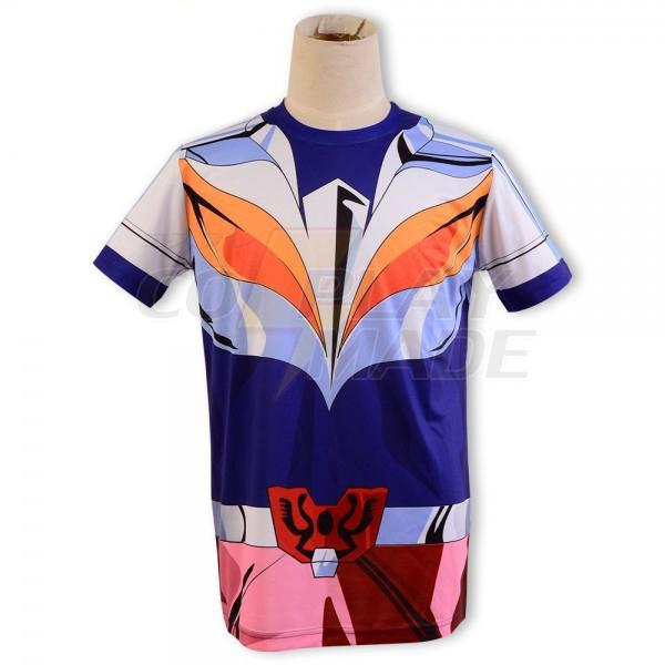 Saint Seiya Bronze Saint Ikki Phoenix Cloth Summer T-shirt Cosplay Costume