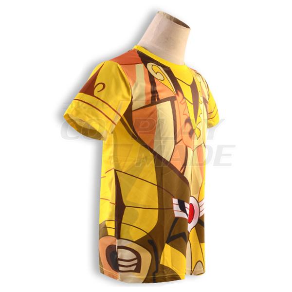 Saint Seiya Gold Saint Shaka Virgo Golden Kangas Kesä T-shirt Cosplay asut Naamiaisasut