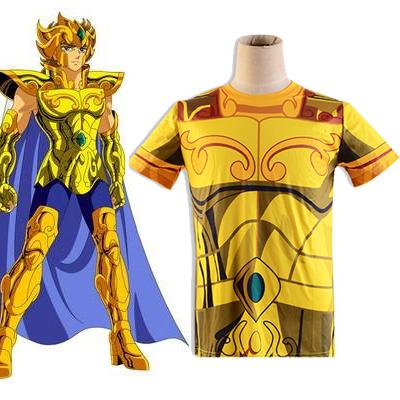 Saint Seiya Gold Saint Aiolia Leo Golden Ruházat Summer T-shirt Cosplay Jelmez Karnevál