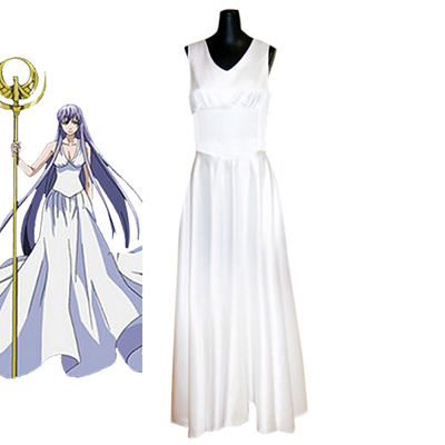 Saint Seiya: The Lost Canvas - Myth of Hades Athena Cosplay Kostym Karneval