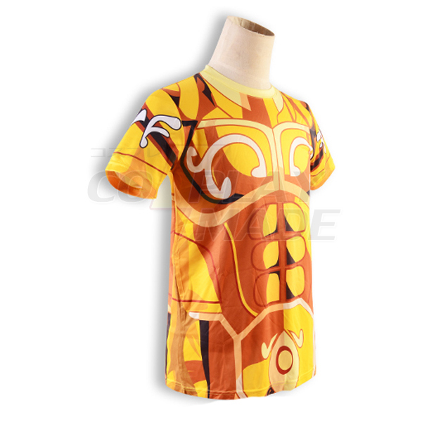 Saint Seiya Gold Saint Aldebaran Taurus Golden Ruházat Summer T-shirt Cosplay Jelmez Karnevál