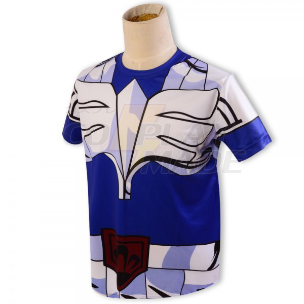 Saint Seiya Bronze Saint Hyoga Cygnus Kangas Kesä T-shirt Cosplay asut Naamiaisasut