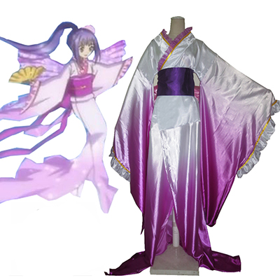 Shugo Chara! Yamato Maihime Kimono Anime Cosplay Kostume Fastelavn