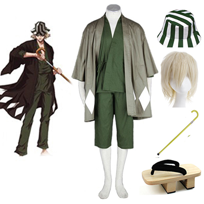 Bleach Mr. Hat-and-Clogs Kisuke Urahara Kimono Uniform Cosplay Kostymer Karneval