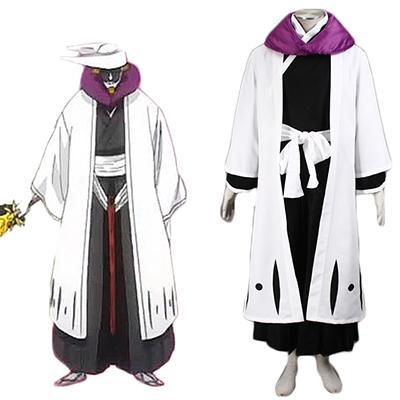 Bleach Gotei Thirteen Kurotsuchi Mayuri Captain of the 12th Division Soul Reaper Kimono Cosplay Costume
