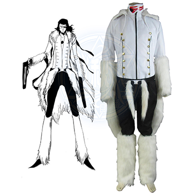 Bleach The Tercera Espada No.1 Coyote Starrk Resurreccion Form White Kimono Cosplay Kostyme Karneval