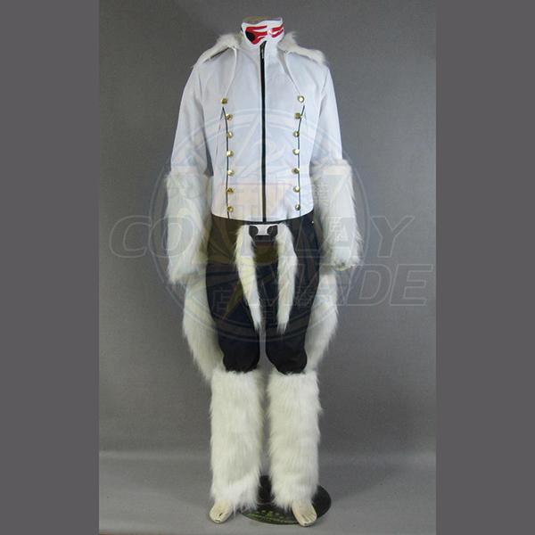 Bleach The Tercera Espada No.1 Coyote Starrk Resurreccion Form Valkoinen Kimono Cosplay asut Naamiaisasut