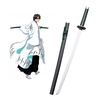 Bleach Aizen Sousuke Zanpakutou Kyoukasuigetsu Cosplay Kostüme Hölzern Waffen