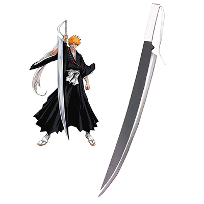 Bleach Ichigo Kurosaki Zanpakutou Zangetsu Cosplay Wooden Weapons