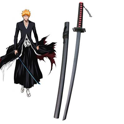 Bleach Ichigo Kurosaki Zanpakutou Tensa Zangetsu Cosplay Wooden Weapons