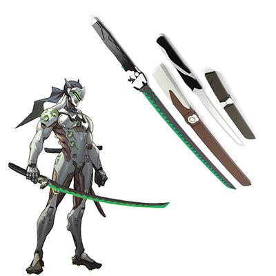 Overwatch OW Gaku Space Genji Length and Short Fa Kards Cosplay Fegyverek Karnevál