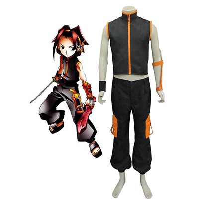 Shaman King Yoh Asakura Shaman Fighting Uniform Bukser Cosplay Kostyme Karneval