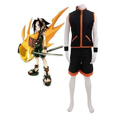 Shaman King Yoh Asakura Shaman Fighting Univormu Cosplay Naamiaisasut