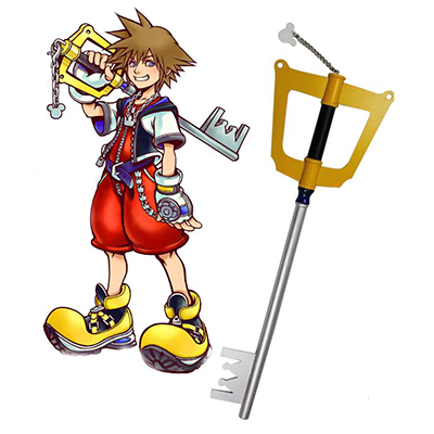 Kingdom Hearts Sora Halloween Keyblade Cosplay Wooden Weapons