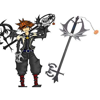 Kingdom Hearts Sora Halloween Keyblade Cosplay Trä Vapen Karneval