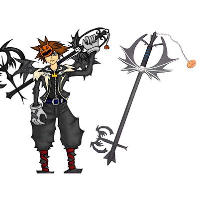 Kingdom Hearts Sora Halloween Keyblade Cosplay Træ Weapons Fastelavn