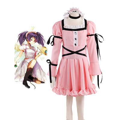 The Future Diary Uryuu Minene Pink Lolita Dress Cosplay Costume Carnaval