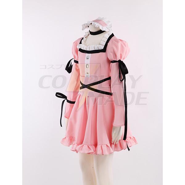 The Future Diary Uryuu Minene Pink Lolita Dress Cosplay Jelmez Karnevál