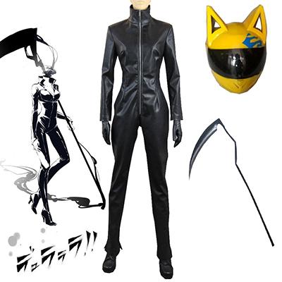 DuRaRaRa!! Celty Sturluson Black Jumpsuits Cosplay Kostyme Karneval