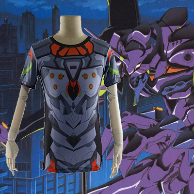 Neon Genesis Evangelion EVA-01 Test Type 3D Summer T-shirt Anime Cosplay Costume