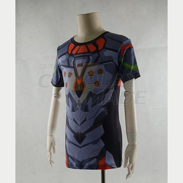 Neon Genesis Evangelion EVA-01 Test Type 3D Kesä T-shirt Cosplay asut Naamiaisasut