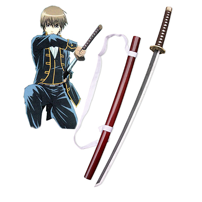 Gintama Silver Soul Okita Sougo Shinsengumi Cosplay Wood Sword Weapons