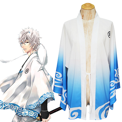 Gintama Sakata Gintoki Summer Cape Cosplay Costume