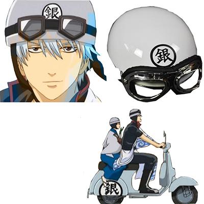 Gintama Zilver Soul Gintoki Sakata Electric motor car hoed Helmet Manga Rekwisietens Carnaval Halloween