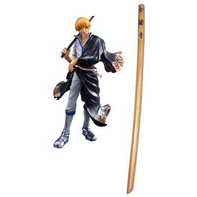 Gintama Silver Soul Sakata Kintoki Golden Pavilion Cosplay Kard Fegyverek Karnevál