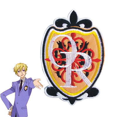 Ouran High School Host Club Ouran High School Badge Cosplay Kostyme Rekvisitter Karneval