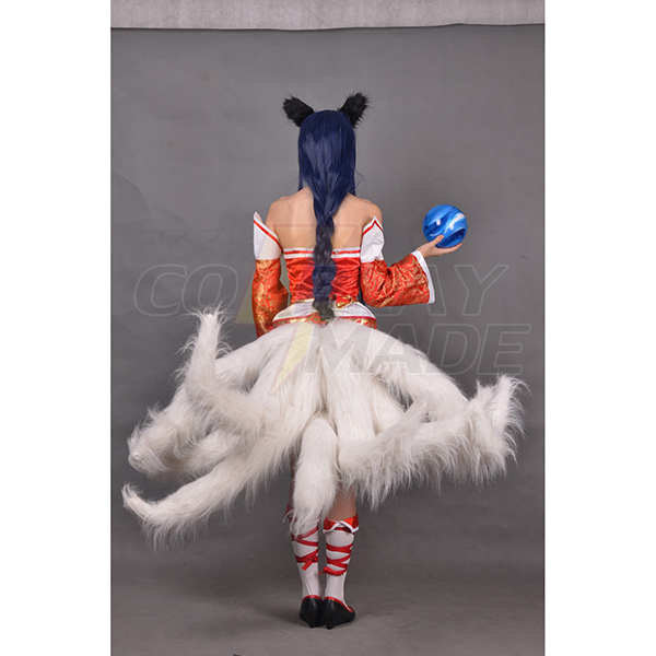 LOL League of Legends The Nine-Tailed Fox Ahri Sexy Hanfu Peli Cosplay asut(No Tails) Naamiaisasut