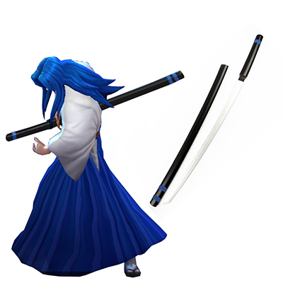 King of glory LOL SNK Samurai Spirits Ukyo Tachibana Wooden Sword Game Cosplay Costume