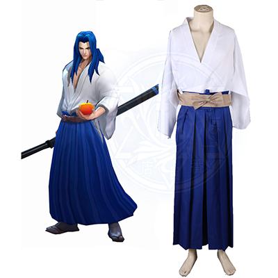 King of glory LOL SNK Samurai Spirits Ukyo Tachibana Kimono Spel Cosplay Kostuum Carnaval Halloween