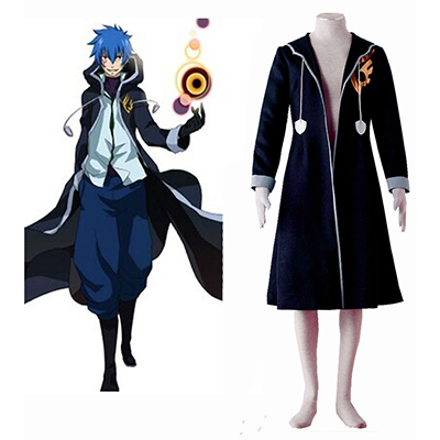 Fairy Tail Jellal Fernandes Overcoat Uniform Cosplay Kostyme Karneval